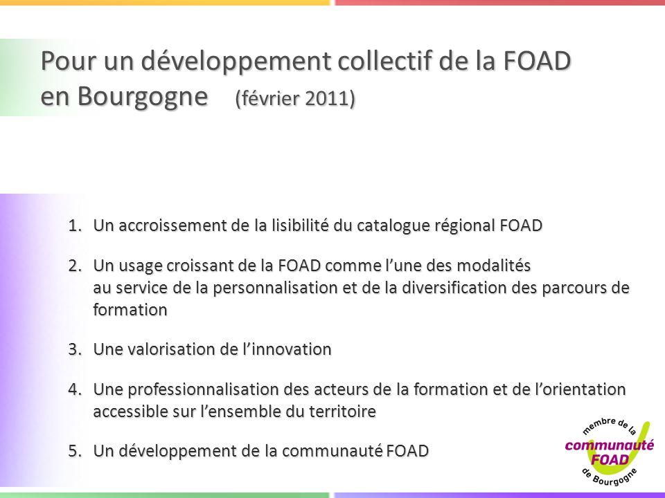 Pour un développement collectif de la FOAD en Bourgogne (février 2011)