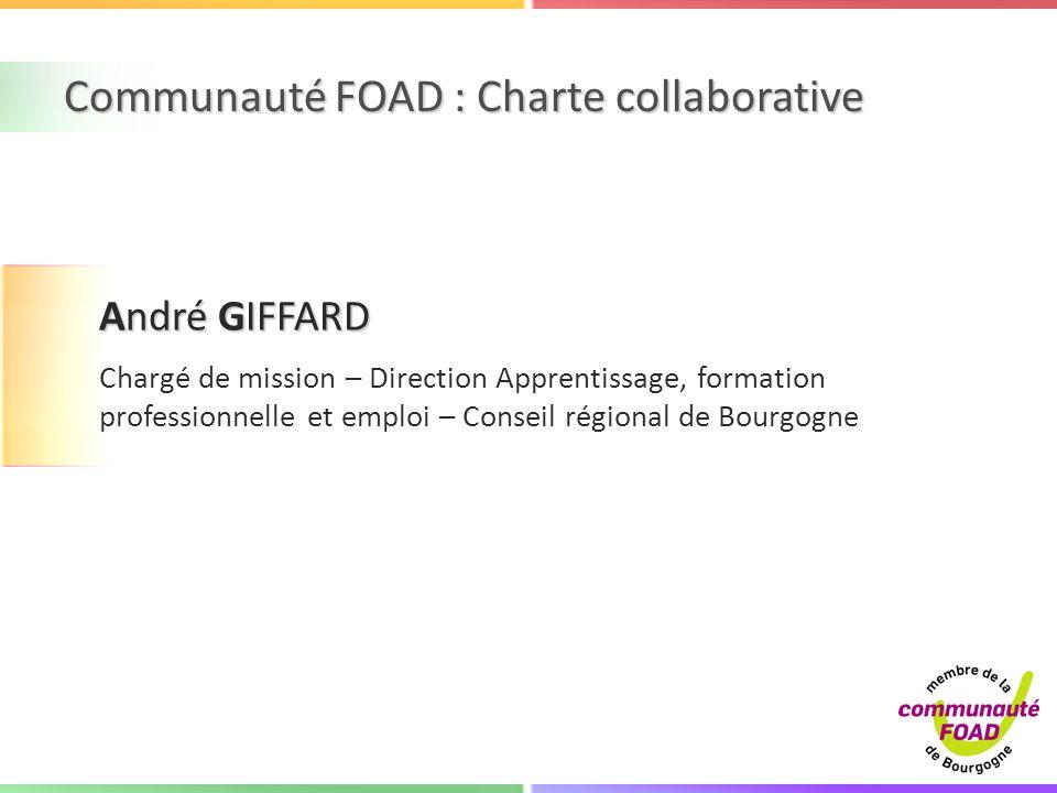 Communauté FOAD : Charte collaborative
