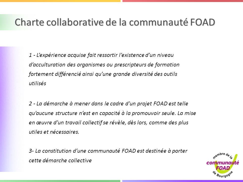 Charte collaborative de la communauté FOAD
