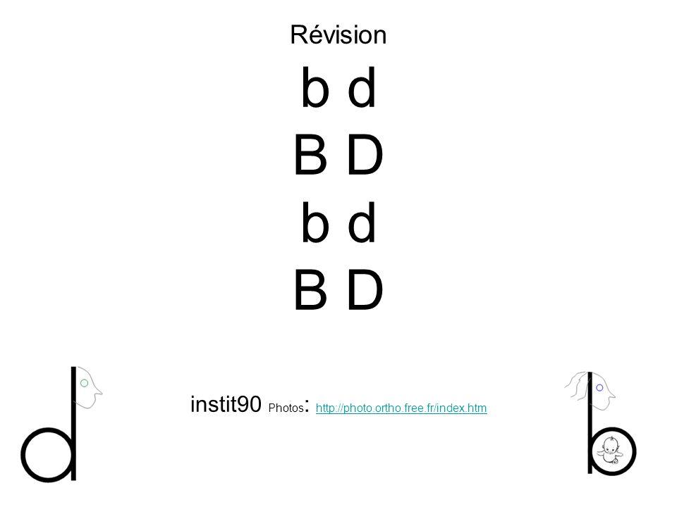 Révision b d B D b d B D instit90 Photos: http://photo. ortho. free