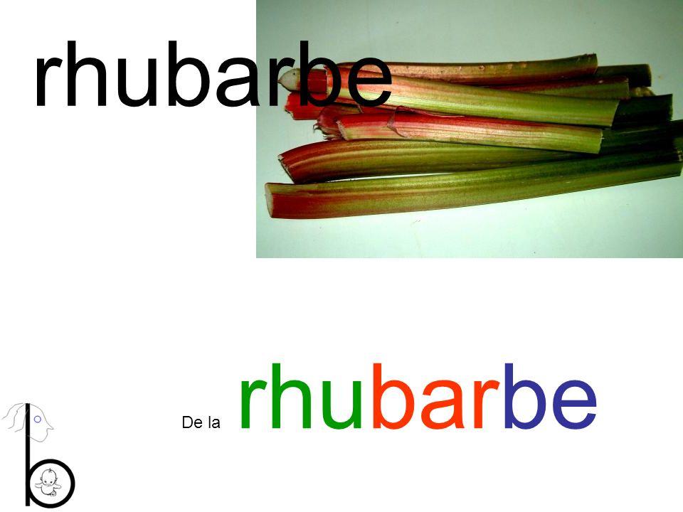 rhubarbe De la rhubarbe