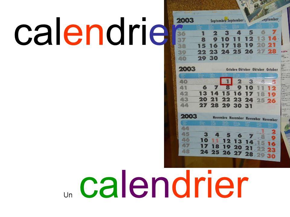 calendrier Un calendrier