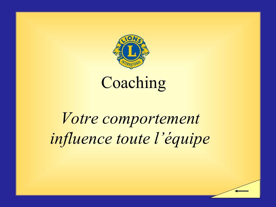 Votre comportement influence toute l'équipe