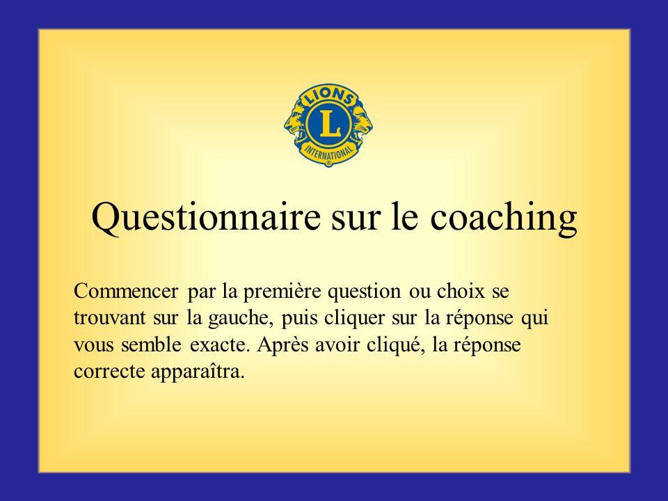 Questionnaire sur le coaching