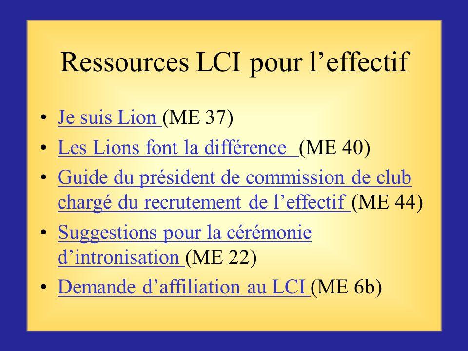 Ressources LCI pour l'effectif
