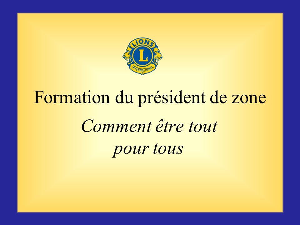 Formation du président de zone