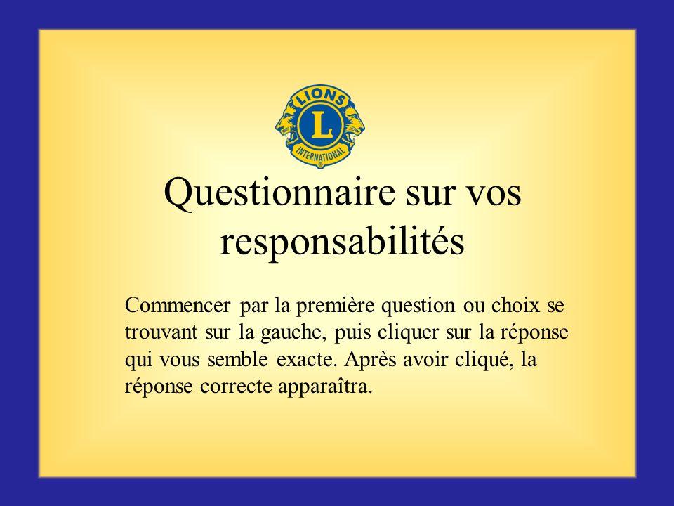 Questionnaire sur vos responsabilités