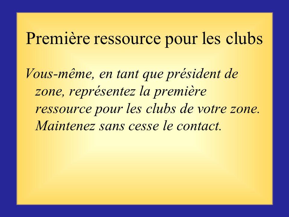 Première ressource pour les clubs
