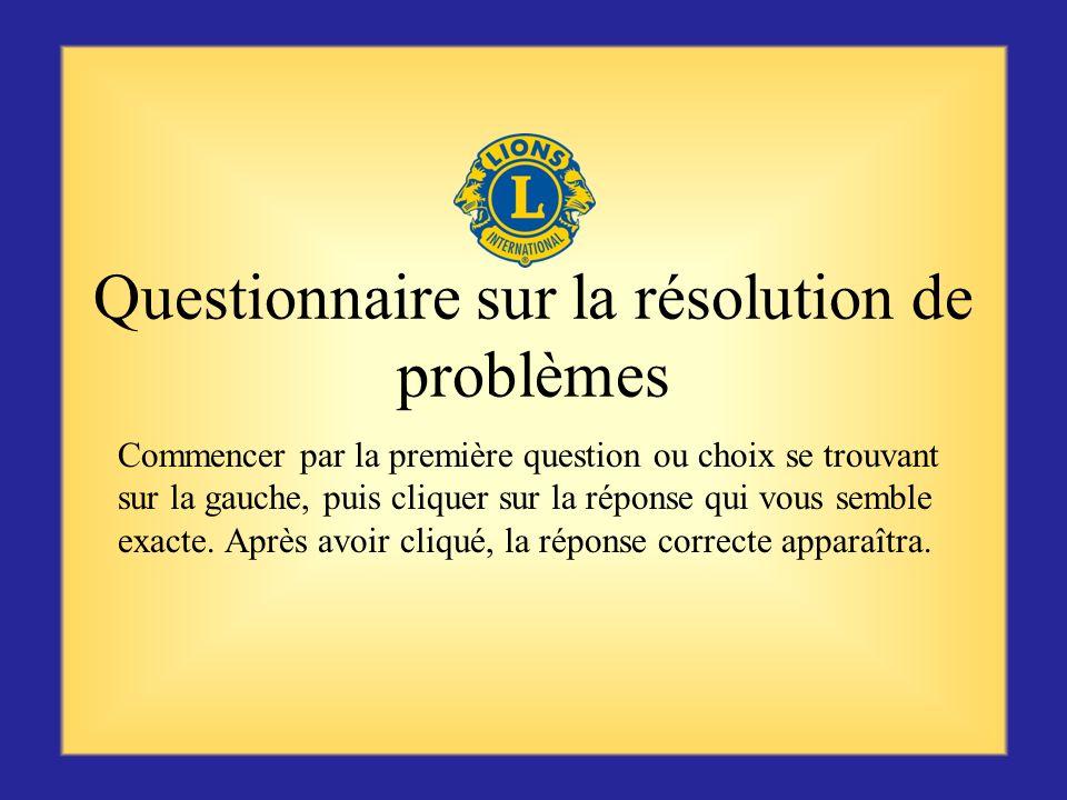 Questionnaire sur la résolution de problèmes