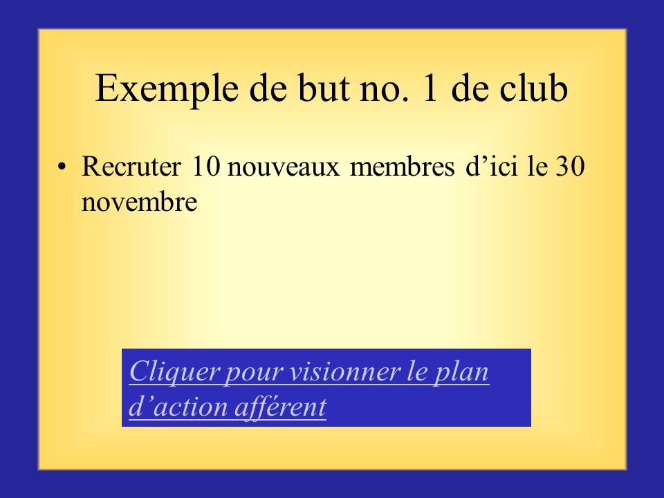 Exemple de but no. 1 de club