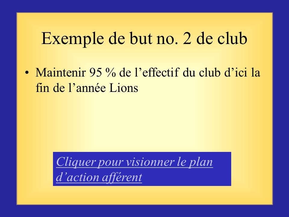Exemple de but no. 2 de club