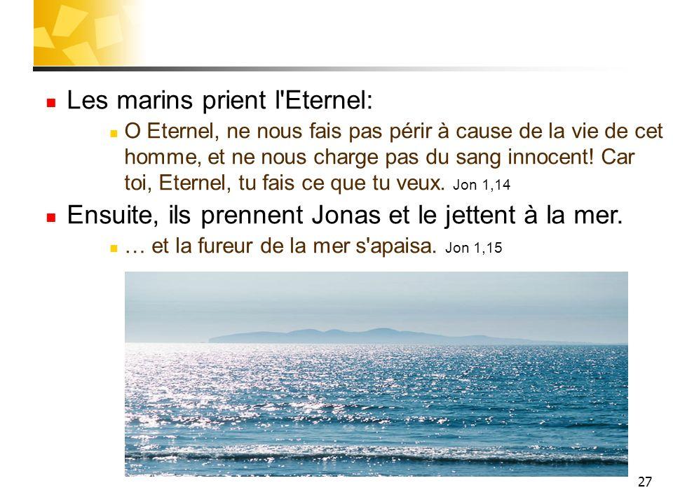 Les marins prient l Eternel: