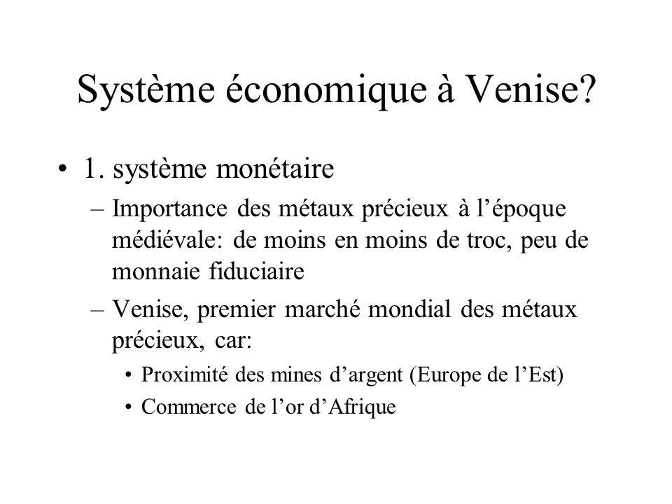 Système économique à Venise