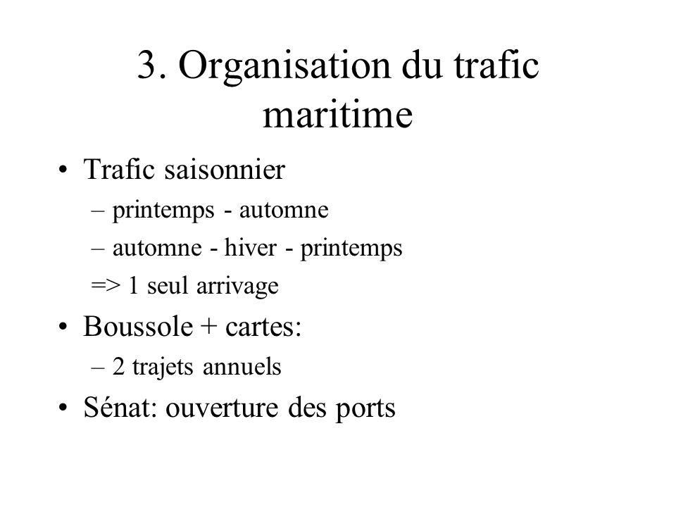 3. Organisation du trafic maritime