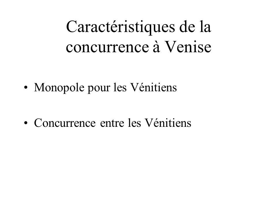 Caractéristiques de la concurrence à Venise