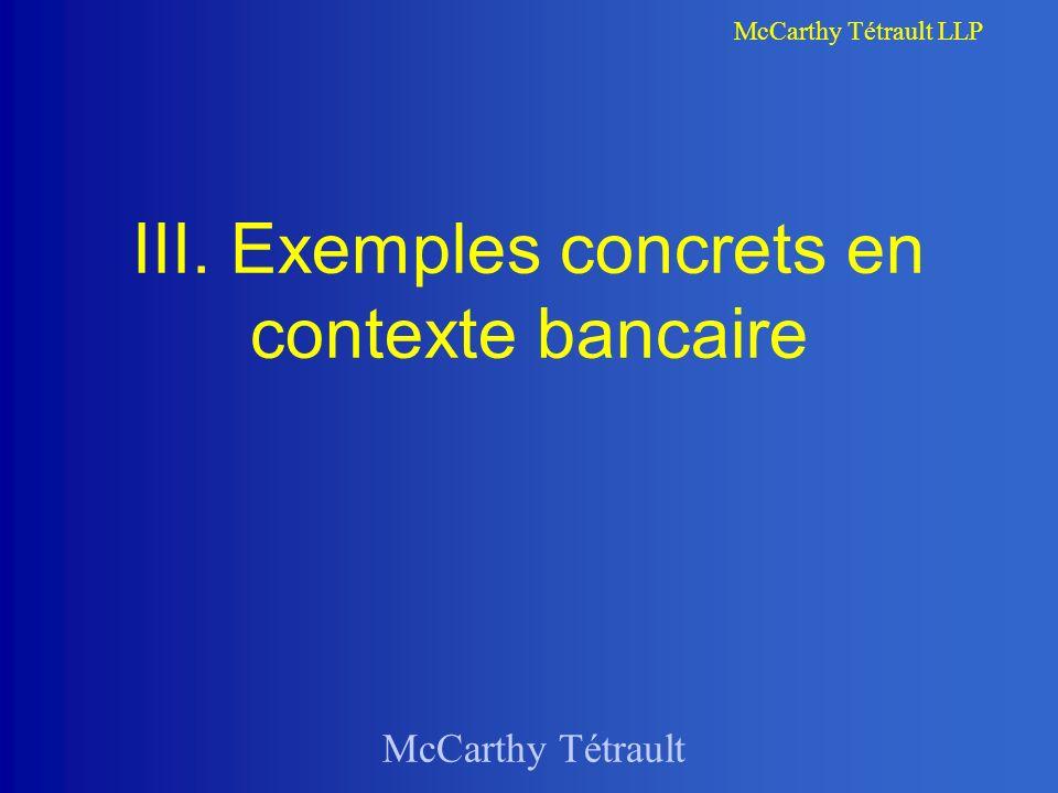 III. Exemples concrets en contexte bancaire