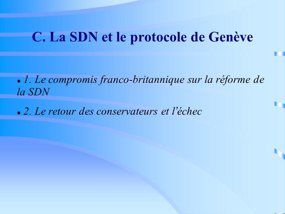 C. La SDN et le protocole de Genève