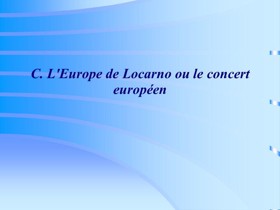 C. L Europe de Locarno ou le concert européen