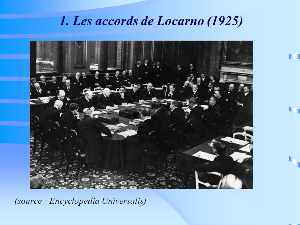 1. Les accords de Locarno (1925)‏