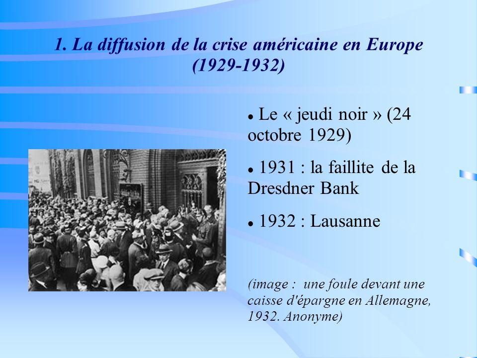 1. La diffusion de la crise américaine en Europe (1929-1932)