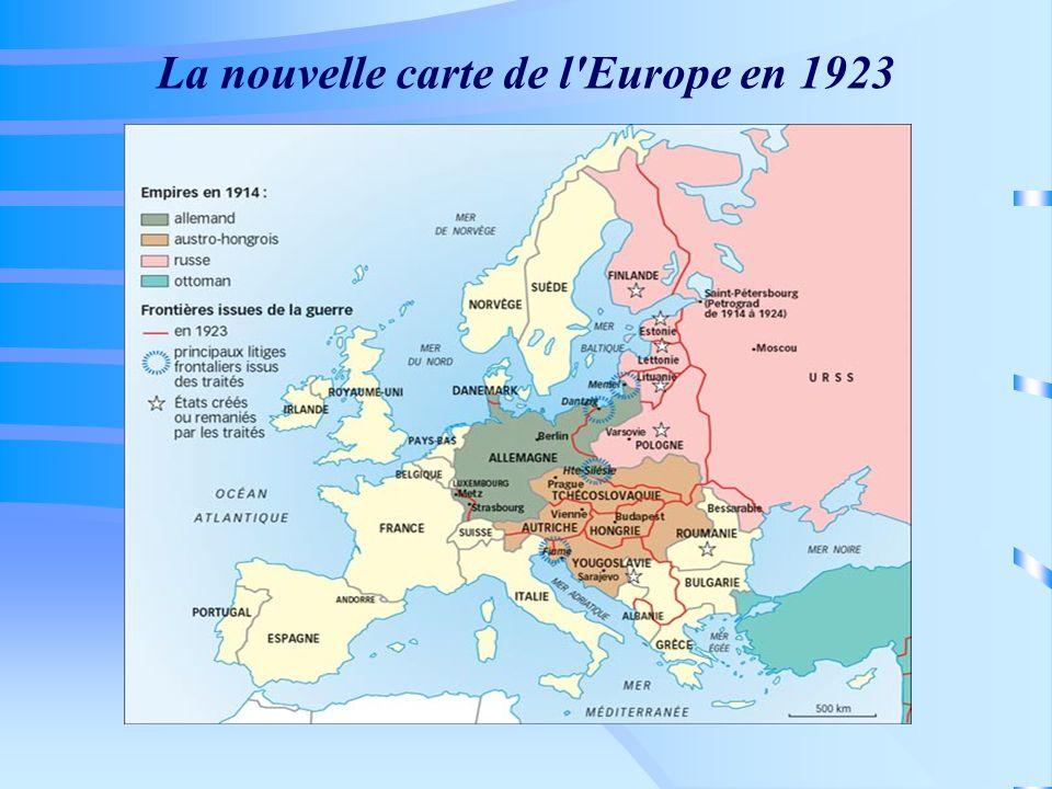 La nouvelle carte de l Europe en 1923