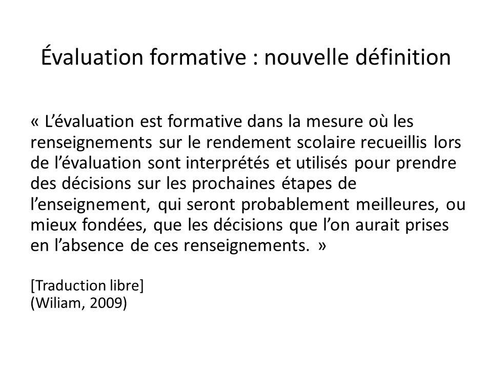 Évaluation formative : nouvelle définition
