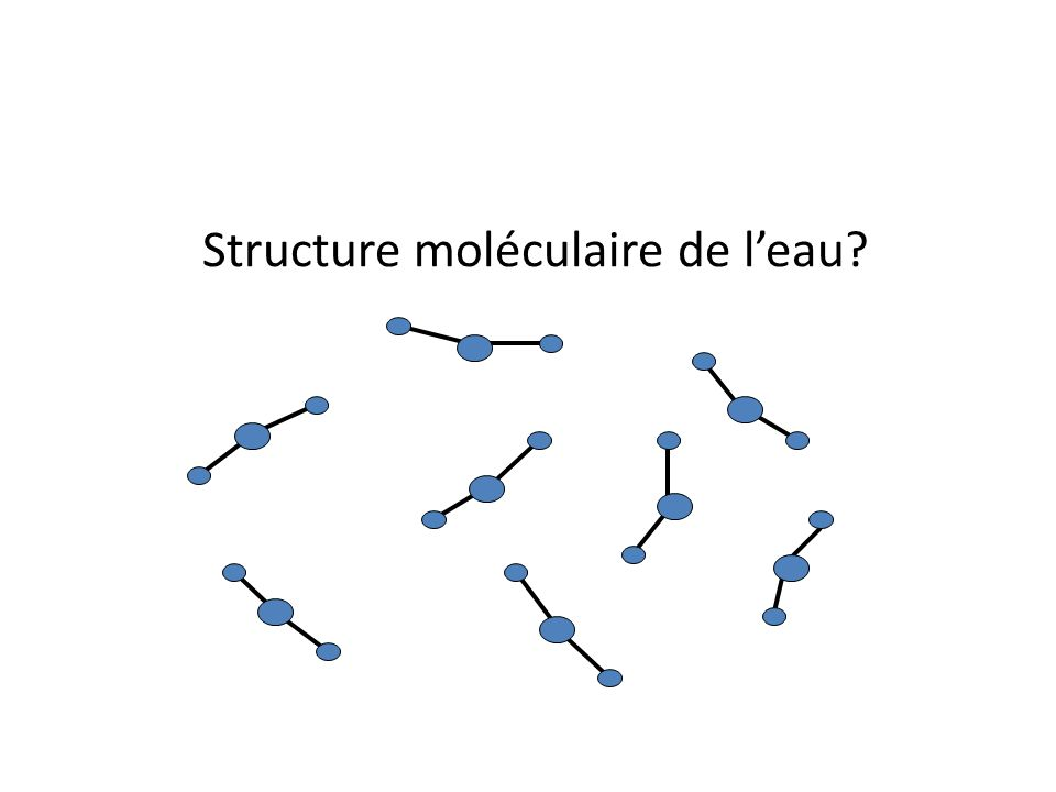 Structure moléculaire de l'eau
