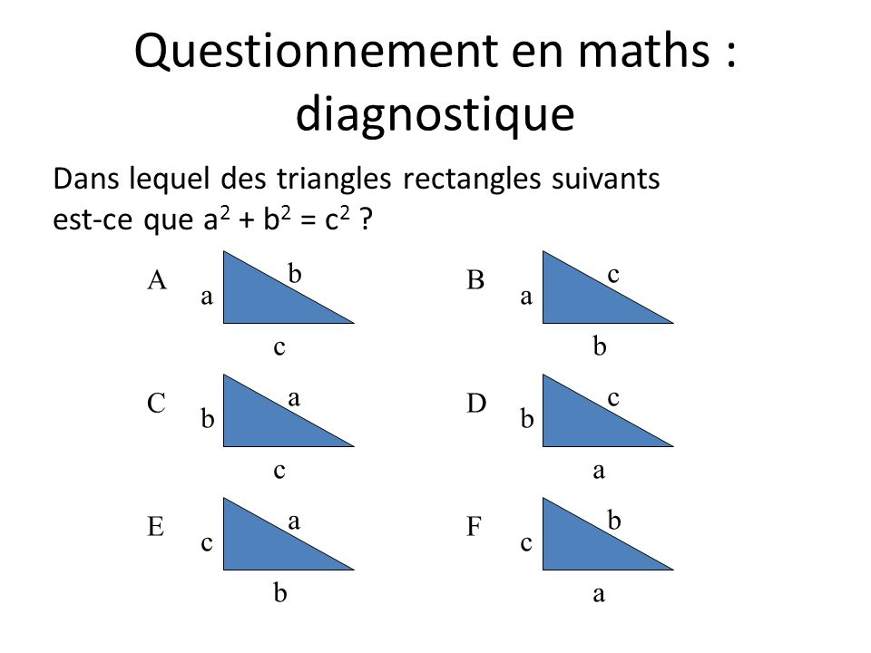 Questionnement en maths : diagnostique