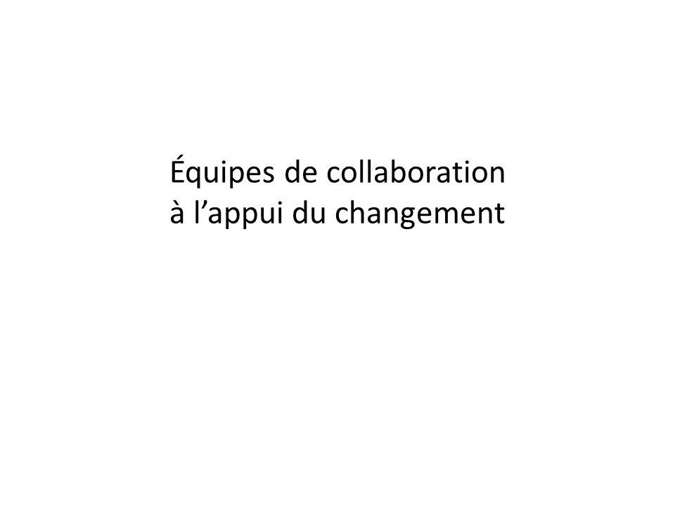 Équipes de collaboration à l'appui du changement
