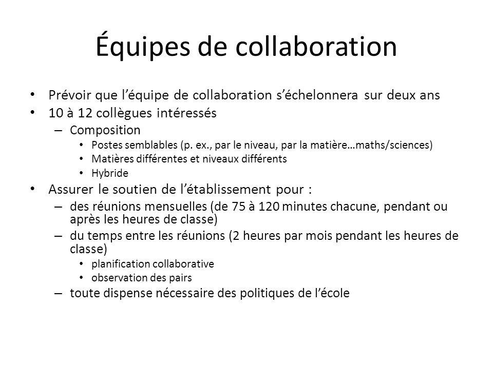 Équipes de collaboration