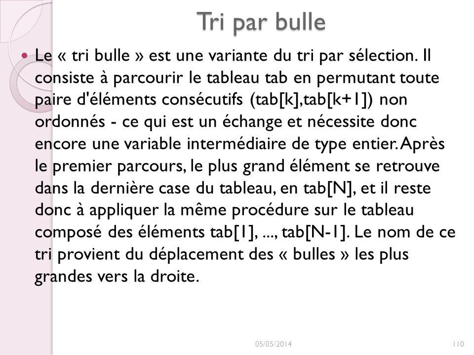 Tri par bulle