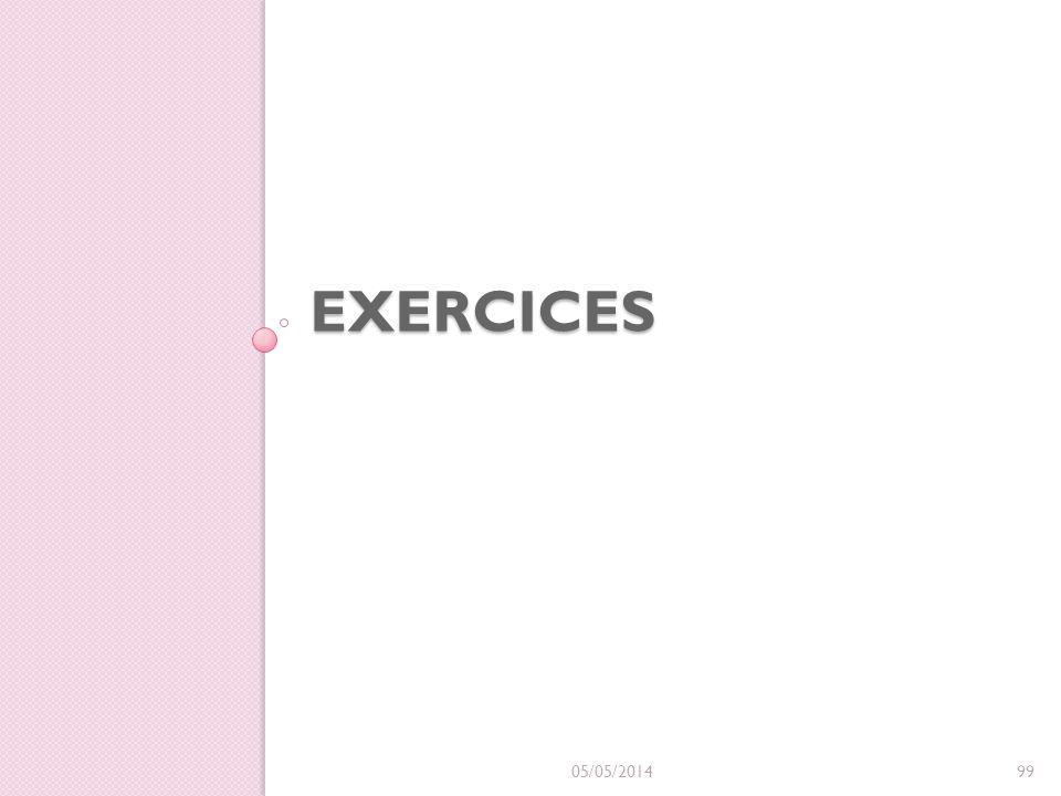 Exercices 30/03/2017
