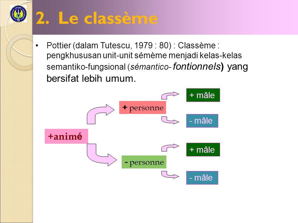 2. Le classème