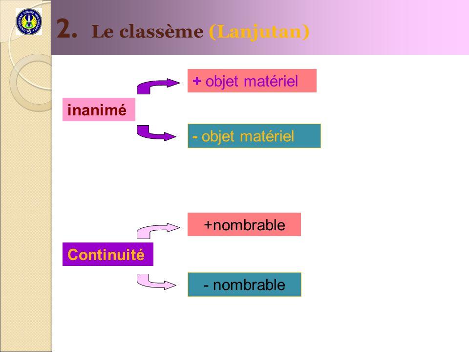 2. Le classème (Lanjutan)