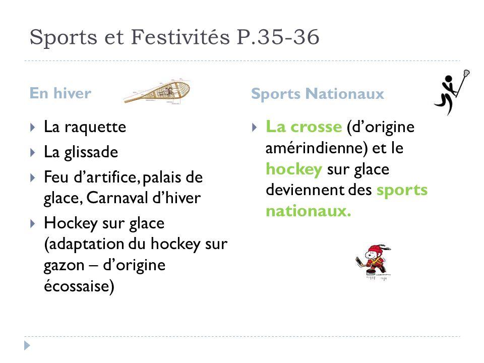 Sports et Festivités P.35-36