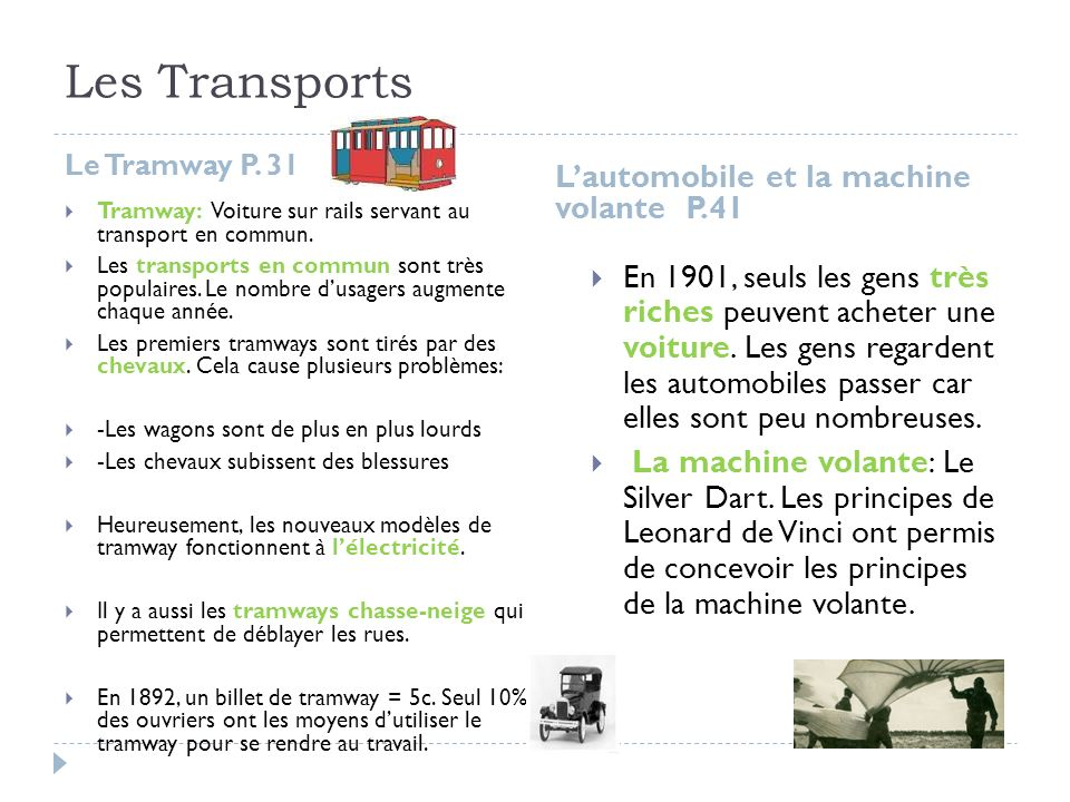 Les Transports L'automobile et la machine volante P.41