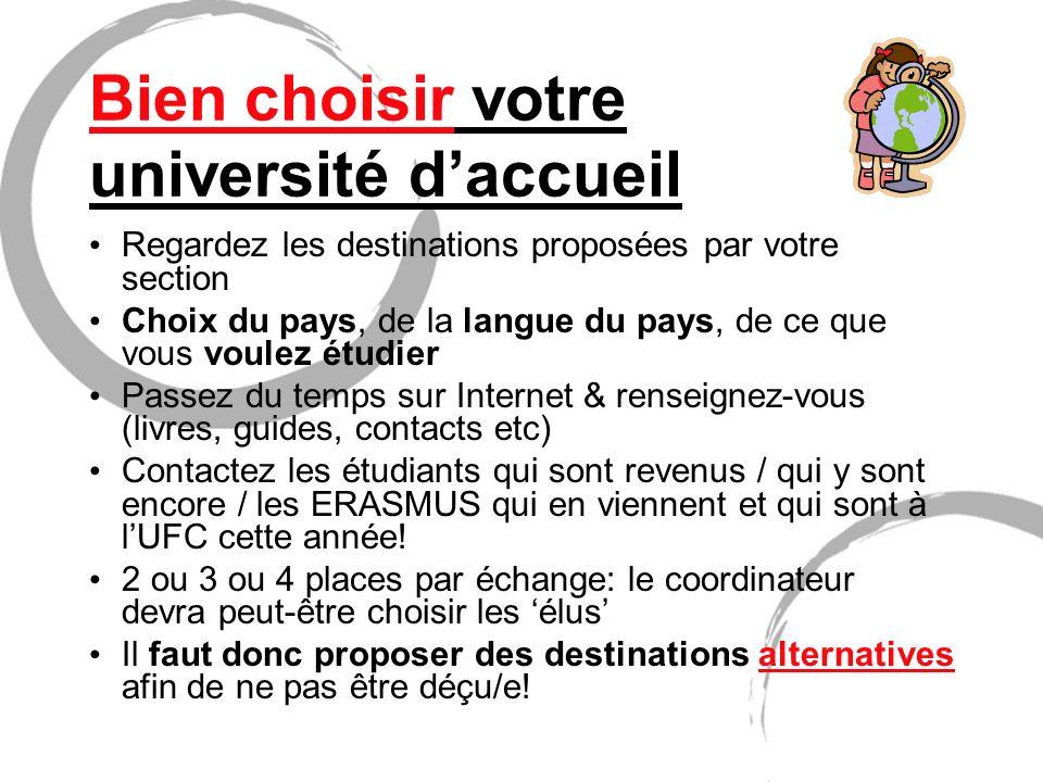 Bien choisir votre université d'accueil
