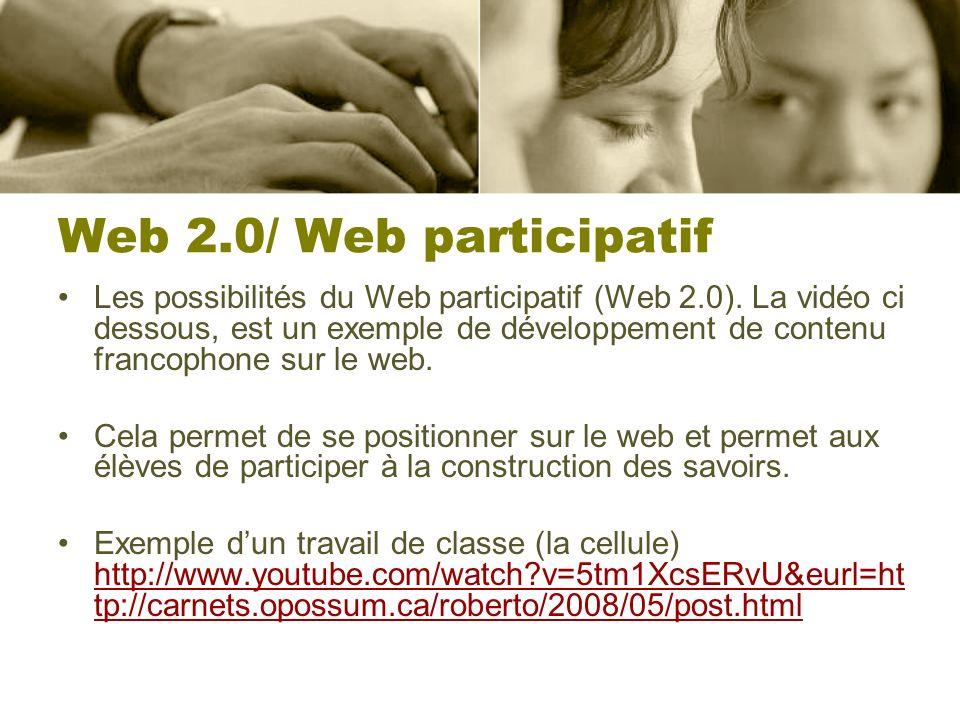 Web 2.0/ Web participatif