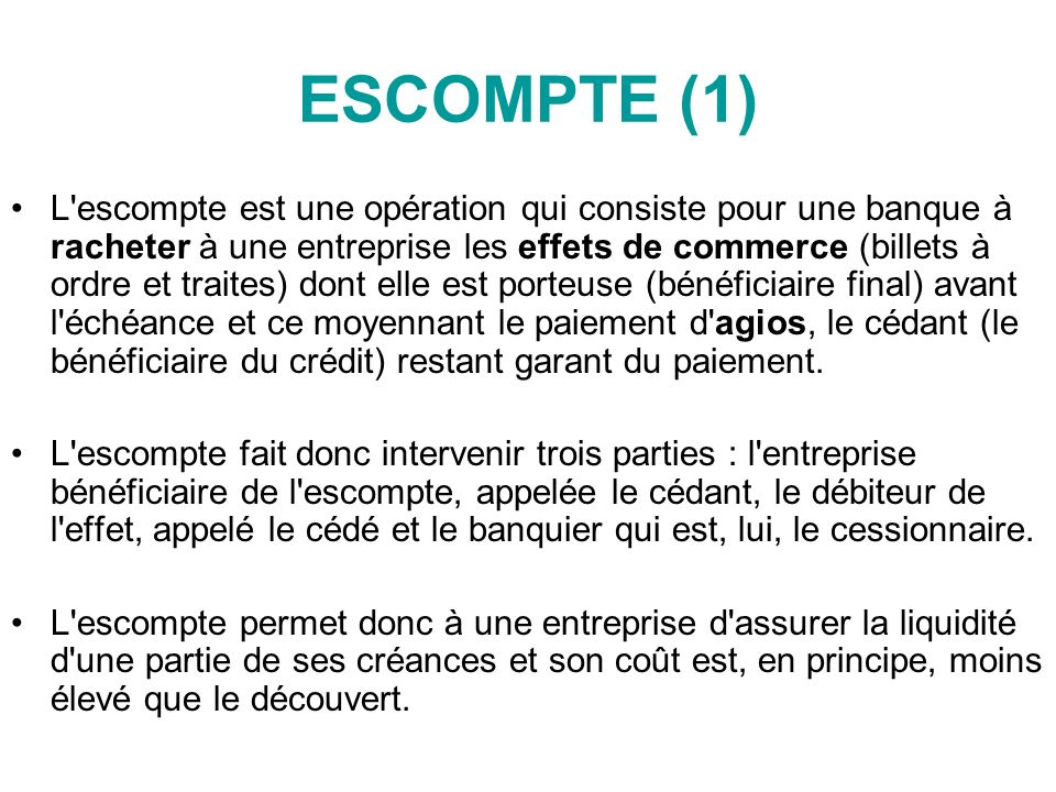 ESCOMPTE (1)