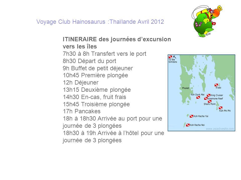 Voyage Club Hainosaurus :Thaïlande Avril 2012