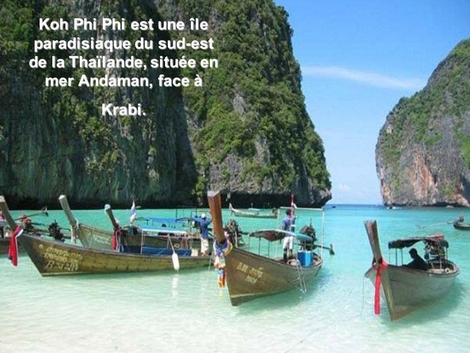 Koh Phi Phi est une île paradisiaque du sud-est de la Thaïlande, située en mer Andaman, face à Krabi.