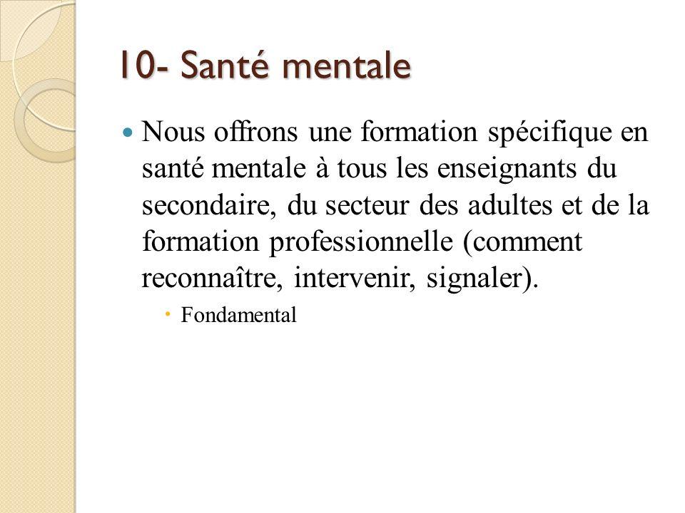 10- Santé mentale