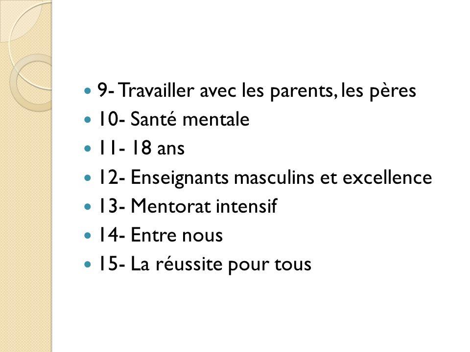 9- Travailler avec les parents, les pères