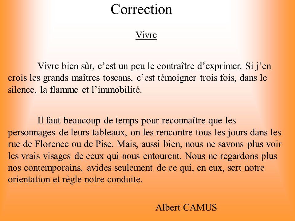 Correction Vivre.