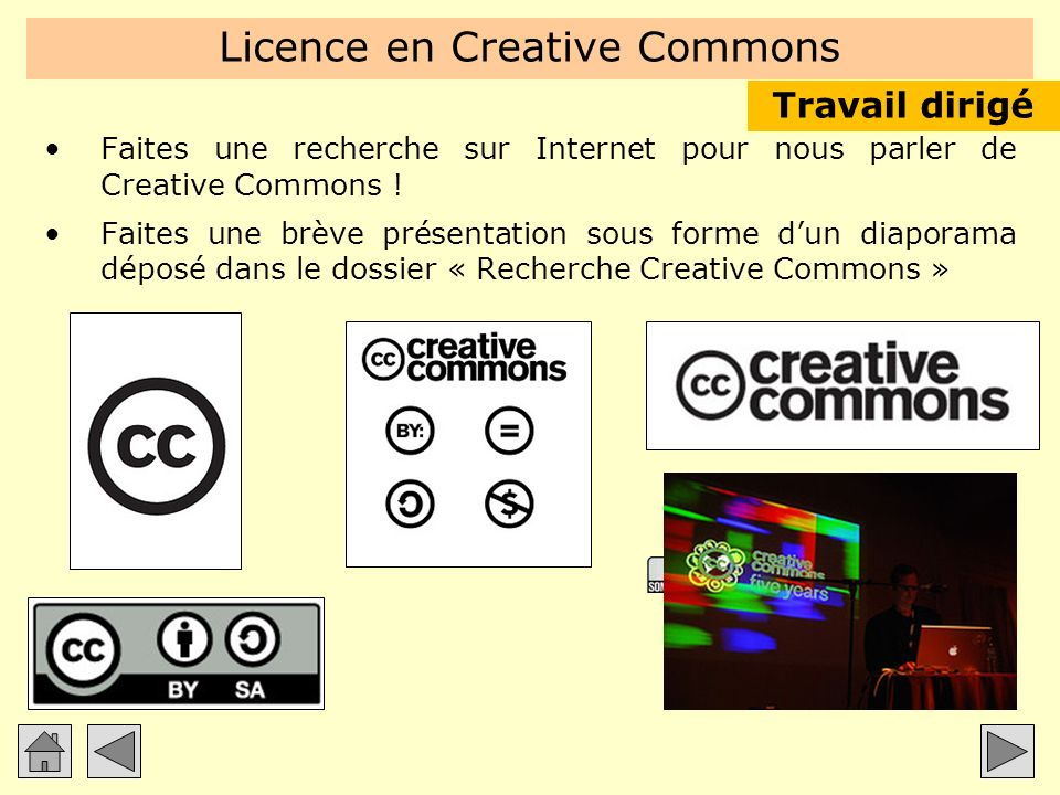 Licence en Creative Commons