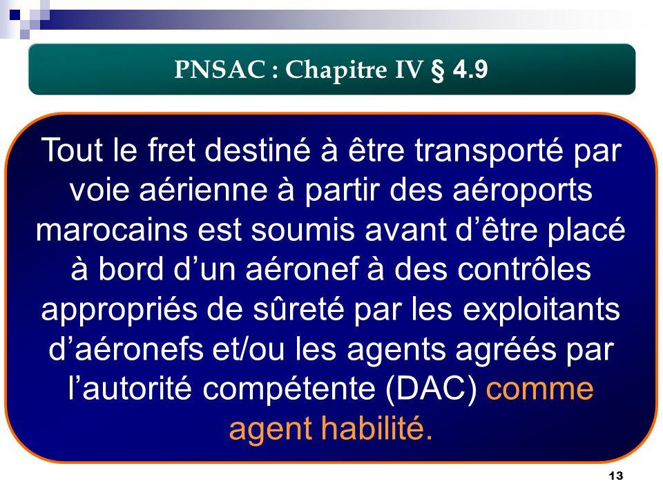 PNSAC : Chapitre IV § 4.9