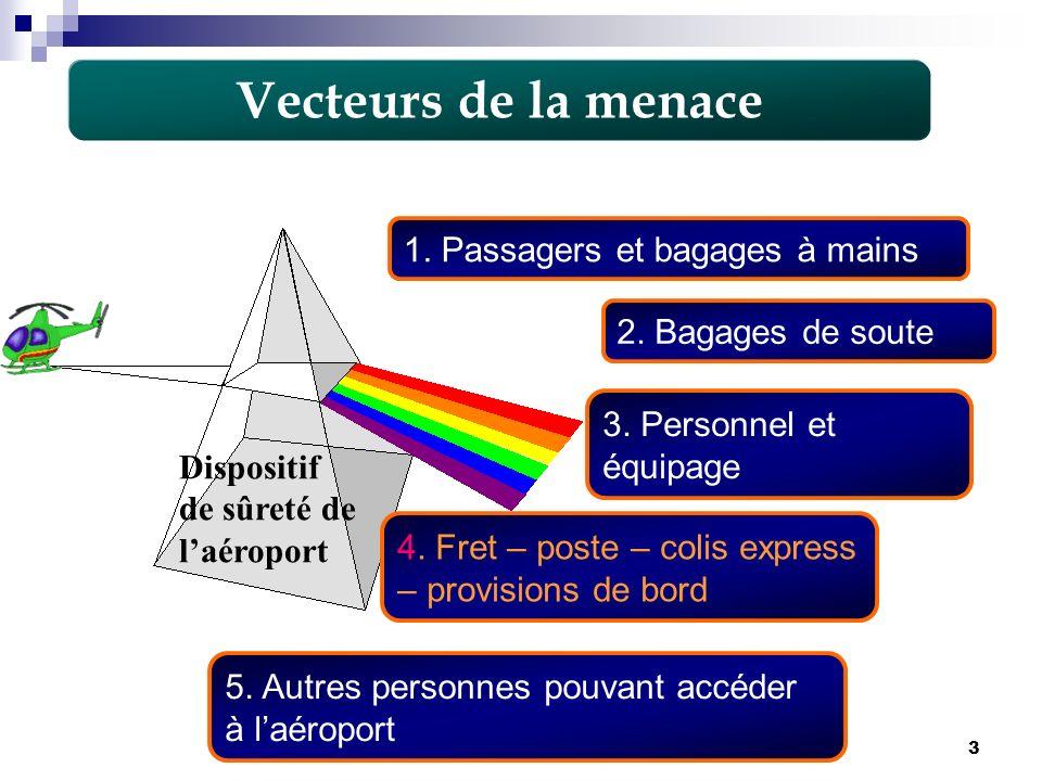 Vecteurs de la menace 1. Passagers et bagages à mains