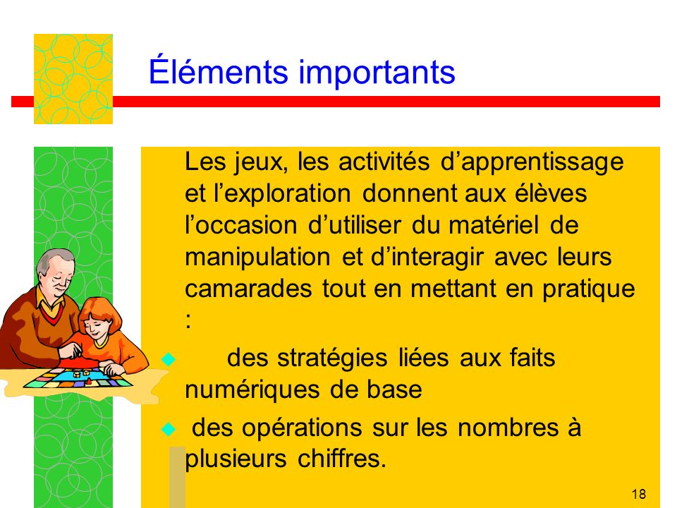Éléments importants