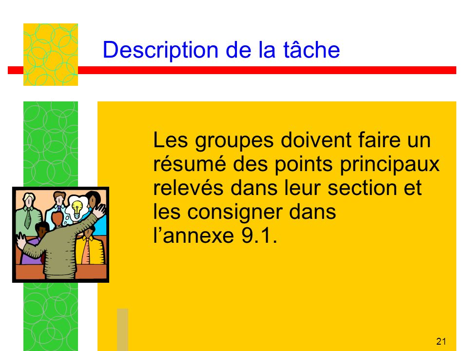 Description de la tâche