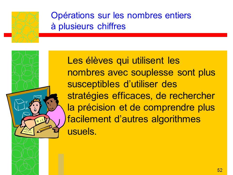 Opérations sur les nombres entiers à plusieurs chiffres
